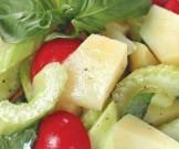салат печеного картофеля сельдерея базилика