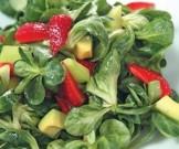 салат корн клубникой авокадо медовой заправкой