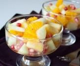 фруктовый салат орехами